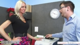 MILF Emma Starr seduces her associate - Naughty Business office - Naughty Usa