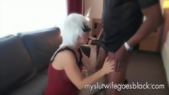 light wife Alexia Thomas first converse with major dark colored prick to really suck