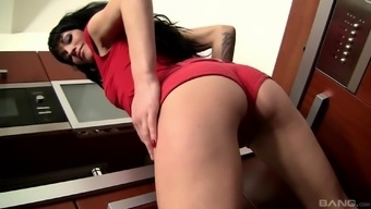 Tattooed Adele Weather gets her smallish ass defeated using a very long junk