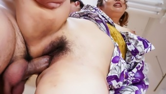 Amazing threesome Japanese sex fiddle with Ai Suzuki - More at Javhd.com