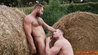 Muscle gay ass to mouth with creampie