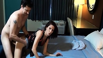 Milf along with fuzzy beaver does blowjob and consequently is fucked complicated